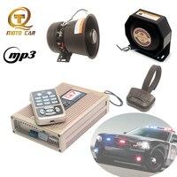Auto Wireless Horn MP3 Lautsprecher Fahrzeug Polizei Sirene Megaphon Auto Alarm Sirene Horn MIC System Elektronische Horn Ton Sirene-in Mehrton-Signalhörner aus Kraftfahrzeuge und Motorräder bei