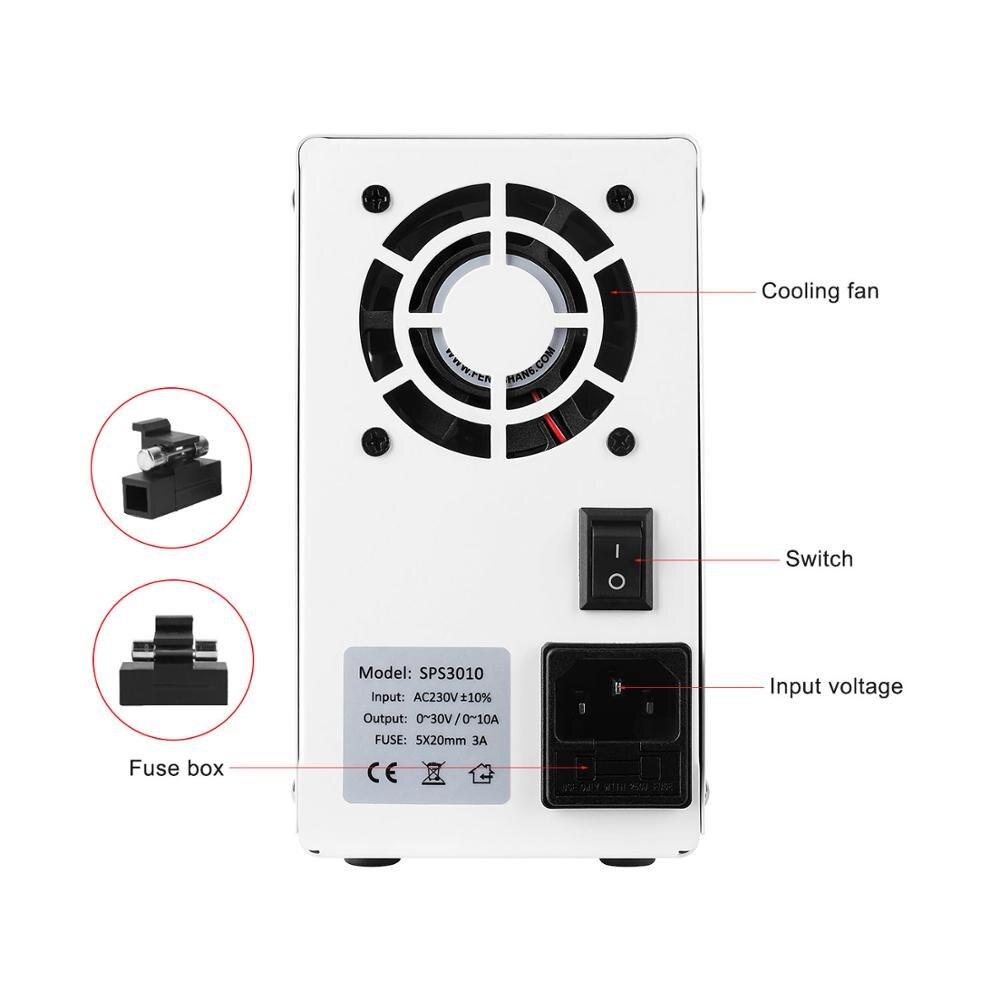 BLAUBUCHT 30V 10A DC Switching Lab Adjustable Power Supply Laboratory Bench Source Digital Current Stabilizer EU US AU UK 220 V-1