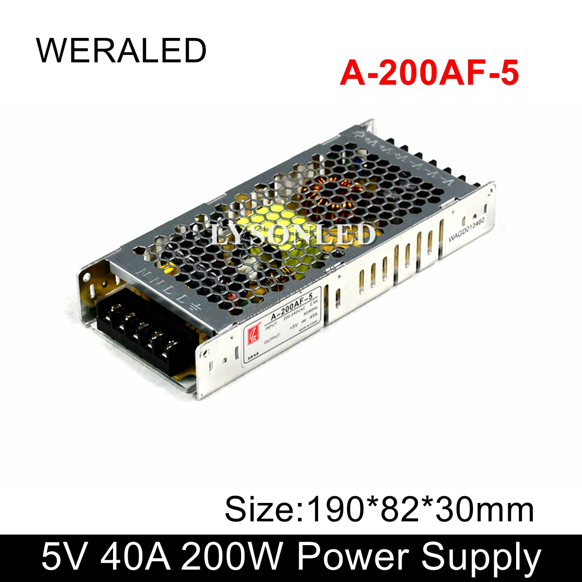 A-200AF-5 Chuanglian 5V 40A 200W Power Supply 110V 230V Input PSU For LED Display