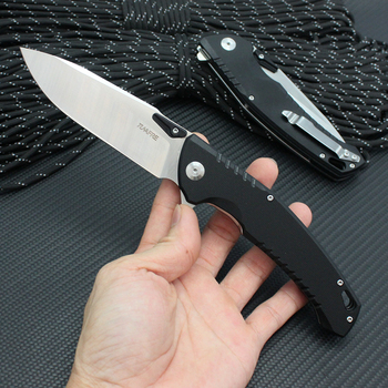 Tunafire Original folding knife 440 Blade +G10 handle edc Multifunction Outdoor Hunting knives With original color box 1