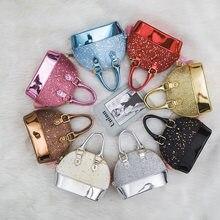 Mini sac à main de fête en cuir PU pour filles, sac à bandoulière, petite pièce de monnaie, portefeuille noir, cadeau