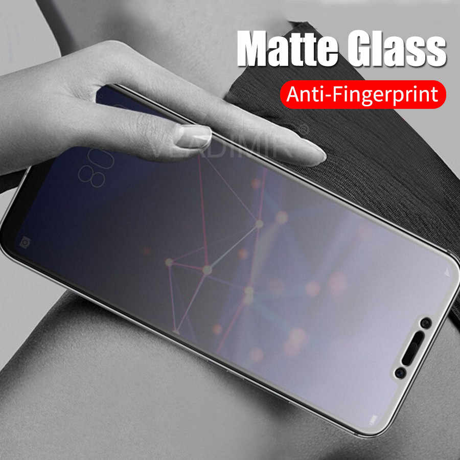 Matte Frosted Tempered Glass for Huawei Honor 20 20i 10 9 Lite 8X Max 7X Play Magic Y9 P Smart Anti Fingerprint Screen Protector