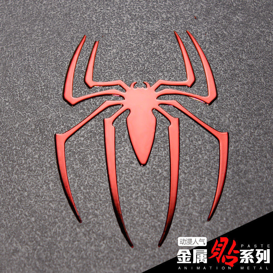 Marvel Legends Spider Man Metal Sticker For Mobile Phone Computer Toys DIY Decoration Material Supply