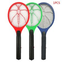 Electric Anti Mosquito Swatter Cordless Battery Power Insects Fly Killer Racket K1MF
