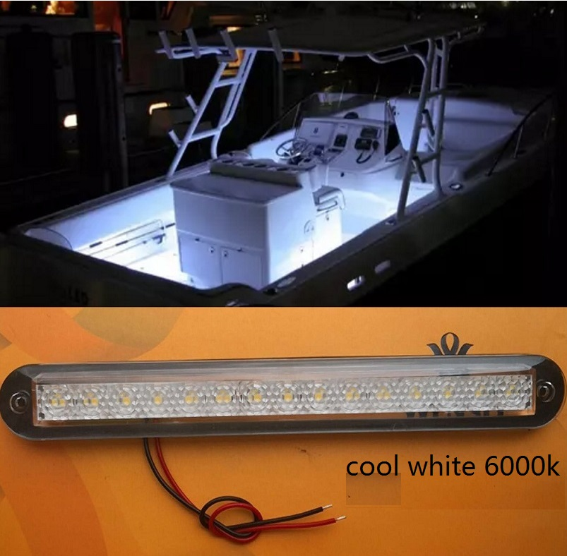 12V 3-LED BLACK CABIN COURTESY ACCENT LIGHT Boat//Stair//Caravan//Interior Lamp