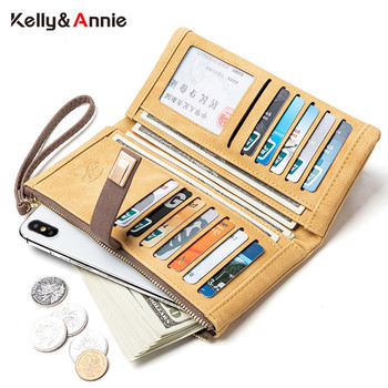 Wristband Long Clutch Wallet Women Soft Leather Card Holder Zipper Cell Phone Pocket Large Capacity Purse Female Wallet Carteras bentoy embroidery candy women clutch wallet hologram zipper leather wallet female metallic purse large organize bank card holder