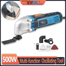 NEWONE 500W Oscillating Multi-tool Electric Trimmer Multi Angle Cutting Power Tool Renovator with saw blades
