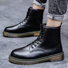 Зимние Оригинальные ботинки в байкерском стиле британском стиле;
