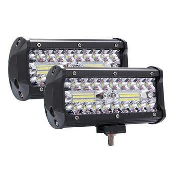 High Bright 400W Work Light LED 3 Rows 7inch 40000LM Bar Driving Lamp DC 9-30V 6000K Working for SUV ATV Tractor Trucks