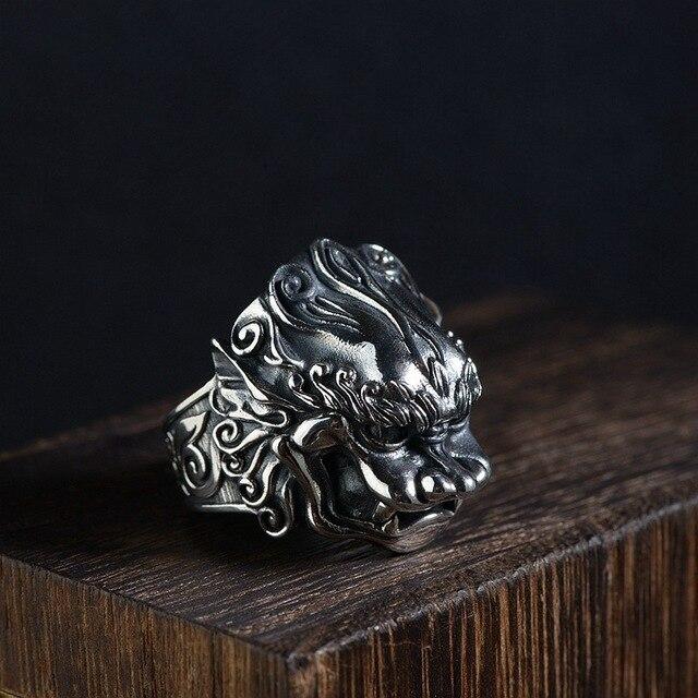 Bague tête de dragon