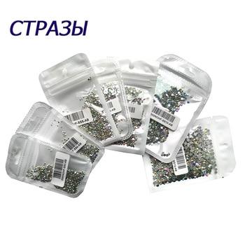 Glitter Tips Crystal SS3-SS6 Non Hotfix Pixie Rhinestones Glass Nails Art for Bling  Decorative Rhinestone