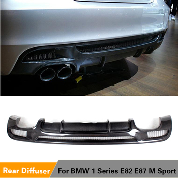 Carbon Fiber / FRP Rear Bumper Diffuser Lip For BMW E82 E88 M Sport 2 Door Only 2007 - 2013 Convertible Non Hatchback image