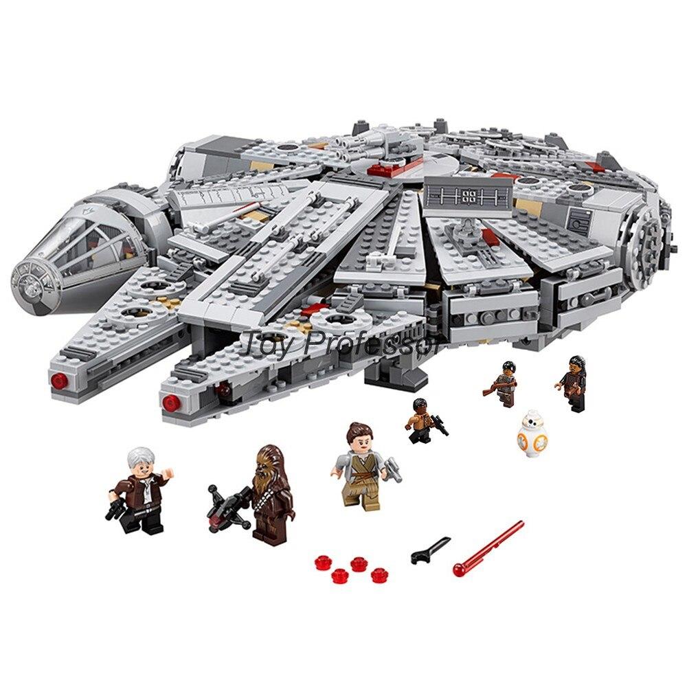 En Stock 1381 pièces compatibles Lepining Star Wars millénium 05007 Falcon vaisseau spatial blocs de construction cadeau d'anniversaire jouets