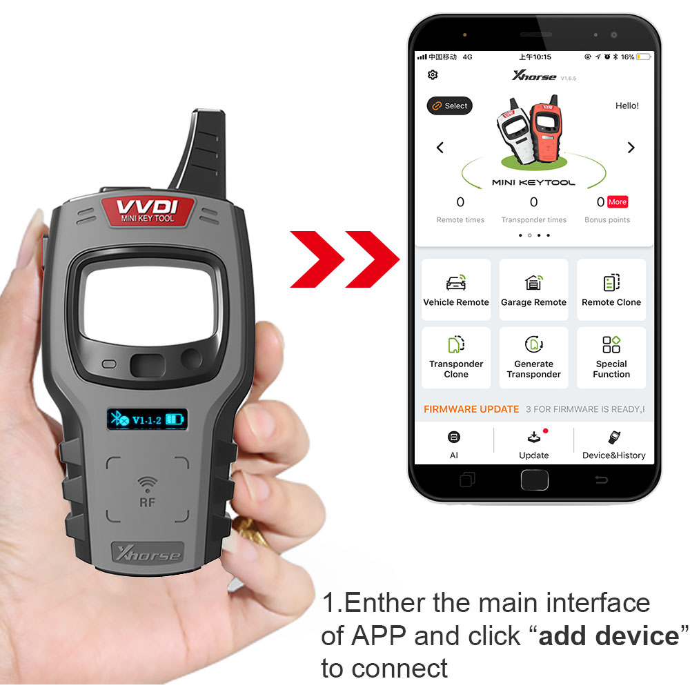 Image 4 - Xhorse VVDI Mini Key Tool Remote Key Programmer Support IOS and Android Global Version Replace VVDI Key Tool-in Auto Key Programmers from Automobiles & Motorcycles on