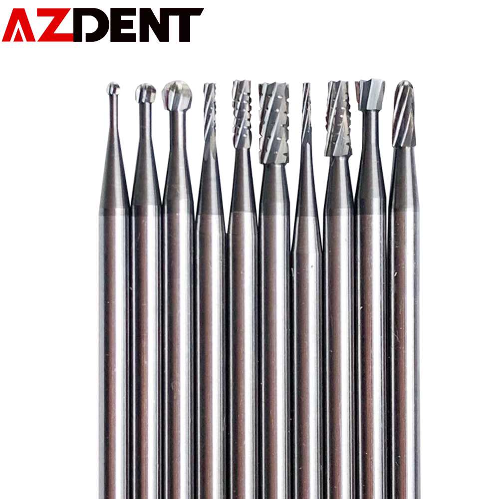 10pcs /set FG  Dental Tungsten Carbide Bur Drill Round Type For High Speed Handpiece