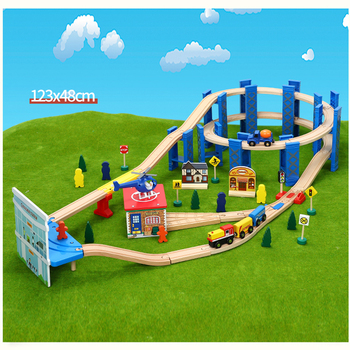 Ring track transport train tarmac set children's rail car toy track set compatible with wooden train tracks and electric trains 10 50 pcs lot city electric power trains train track rail straight