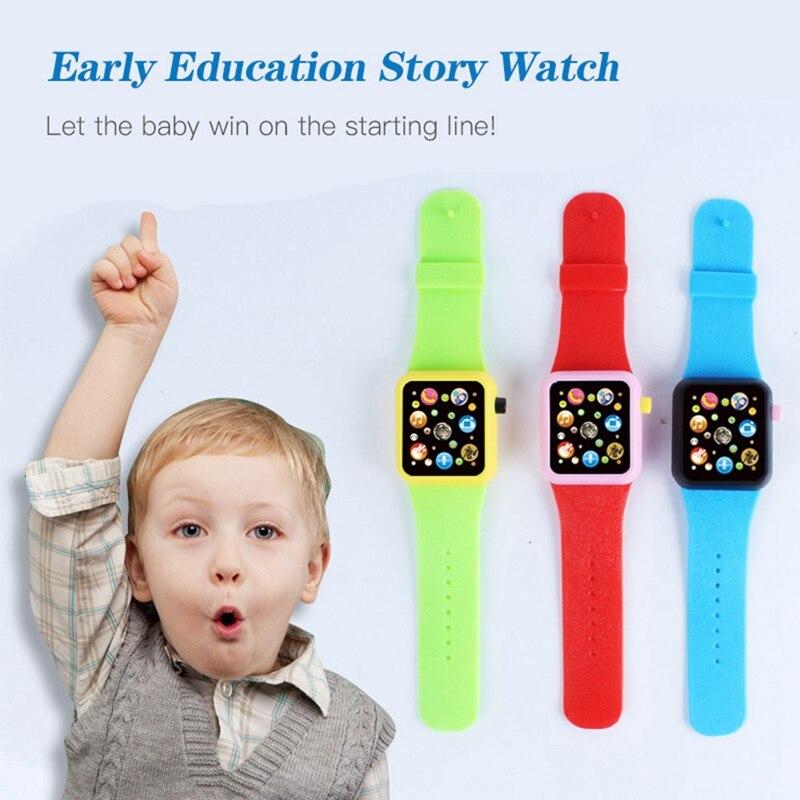 1PCS Children School Music Toys Smart Watch Digital Toys Kids Positioning Smartwatch Cute Cartoon Study Watches Birthday Gift