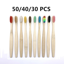 Eco friendly Bamboo Toothbrush Soft Bristles Biodegradable Plastic-Free Oral Care Adults Toothbrush Bamboo Handle Brush
