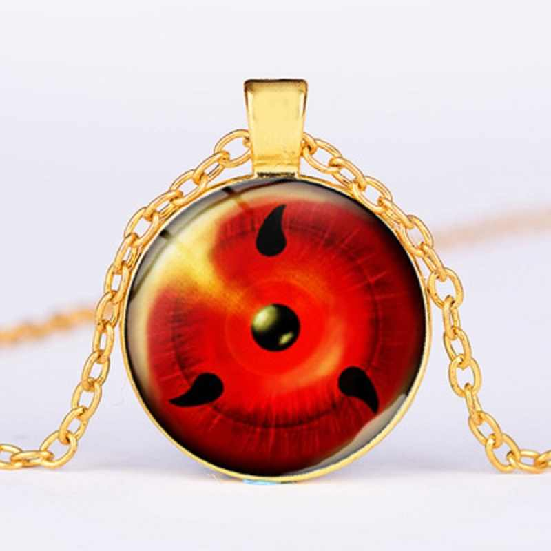 Comicnaruto Uchiha Sasuke hakake kakash Necklace round eyes Naruto Cosplay accessories series boy's birthday gift
