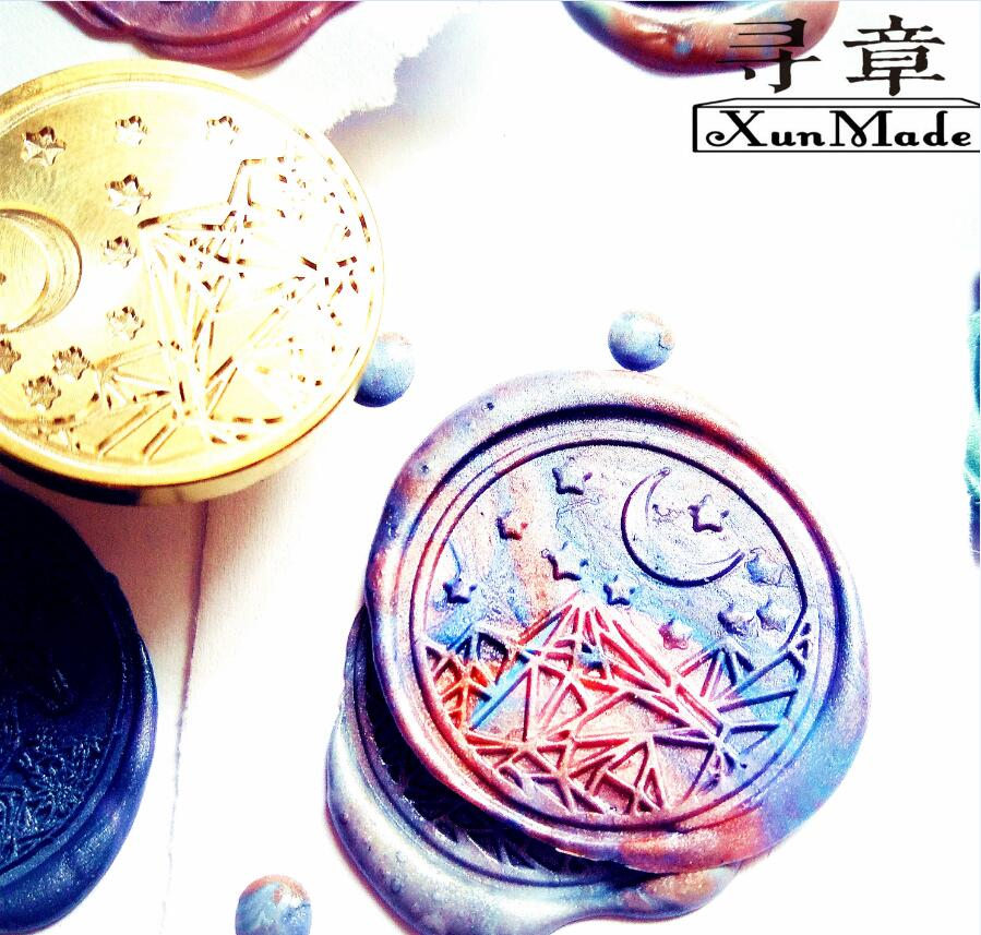 Image 5 - plant seal whale mushroom Fern leaf Mountain Whale mushroom fern leaf moon deep sea elk Paint seal wax stamp wax sealing stamp-in Stamps from Home & Garden