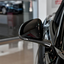 Carbon Fiber Interior Decoration Side Mirror Rearview Mirror Decal Cover Trim for Ford Mustang Car Decal Stickers Accessories abs carbon fiber grain side mirror cover trim for ford f150 2015 2019 raptor tuning reverse mirror car accessories
