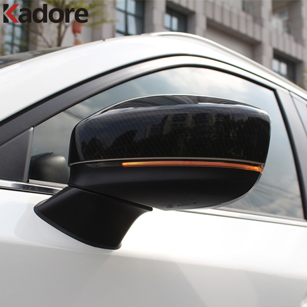 For <font><b>Mazda</b></font> CX5 <font><b>CX</b></font>-<font><b>5</b></font> KF 2020 2017 <font><b>2018</b></font> 2019 Car Rearview Mirror Strip Trim Covers Stickers Sequins Exterior Auto <font><b>Accessories</b></font> 2pcs image
