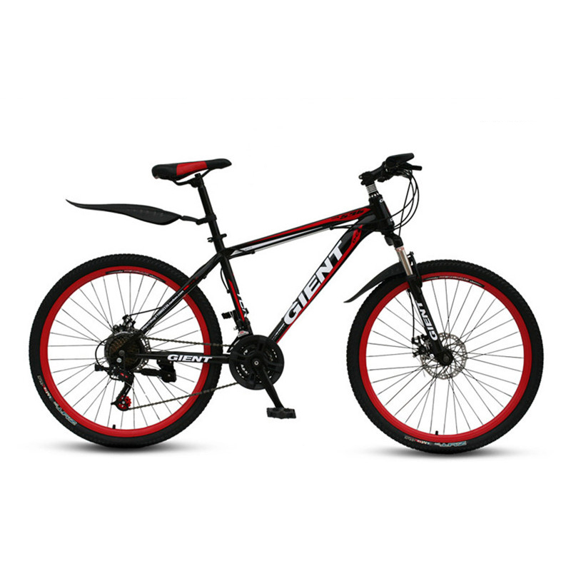 Mountain Bike Bicycle 21 Speed 26 Inch Fat Bike Double Disc Brakes Shock Adult Male And Female Students