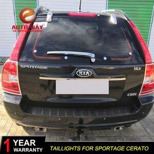 Image 4 - רכב סטיילינג זנב אורות LED בלם אורות אזהרת אורות מקרה עבור KIA Sportage cerato sportageR Ceed 2007 2014 פנסים אחוריים