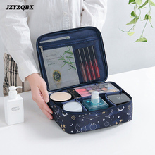 Woman Travel Makeup Bag Zipper Cosmetic Storage Oxford Cloth Waterproof High Quality Versatile A/B Models