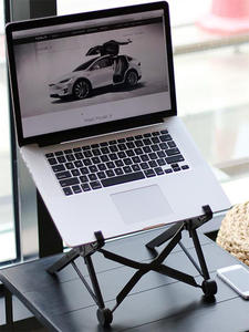 Bracket Notebook-Stand Laptop-Accessories Folding Adjustable Angle-Height Viewing