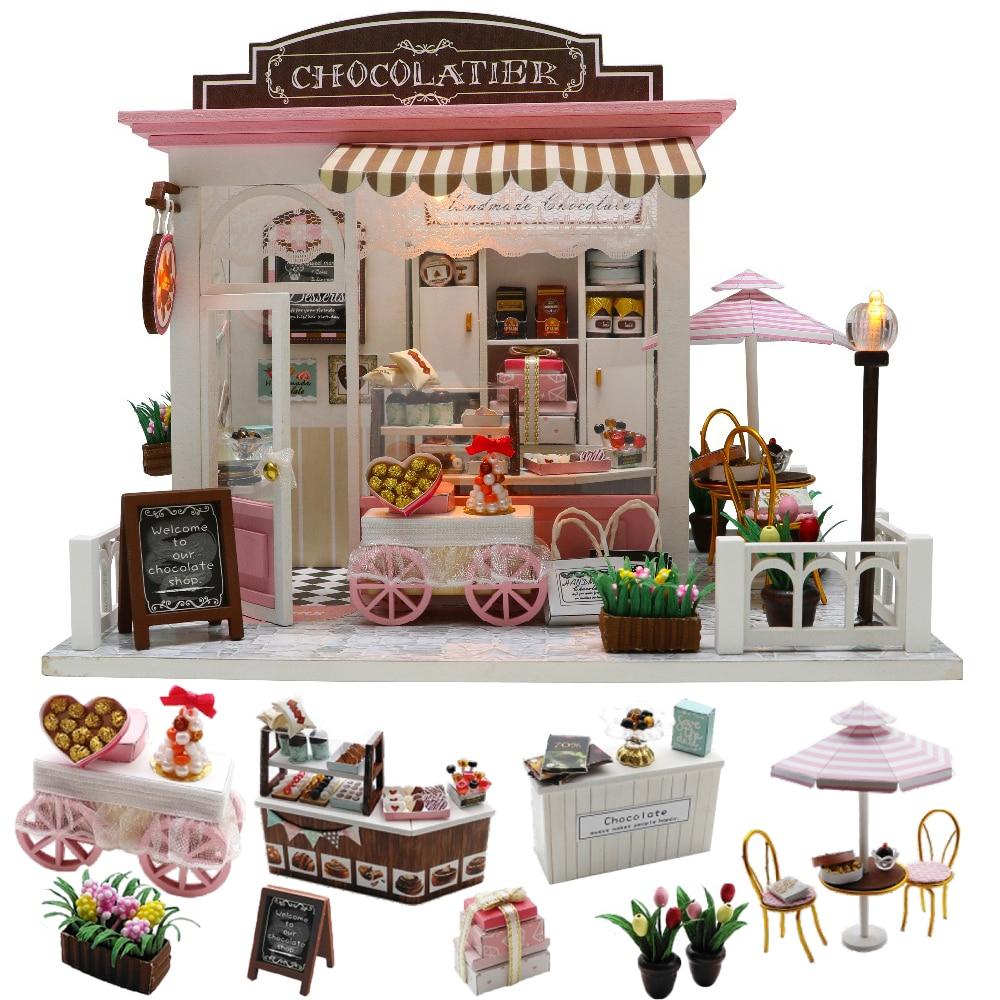 Cutebee Doll House Furniture Miniature Dollhouse DIY Miniature House Room Box Theatre Toys For Children Stickers DIY Dollhouse K