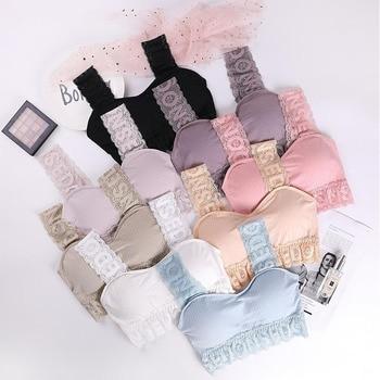 ATHVOTAR Women's Sports Underwear Bra Set Cute Lace Push Up Lingerie Bra Seamless Comfortable Set