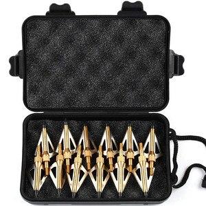Image 5 - 12 pçs lâmina de tiro com arco flecha com 1pc broadhead caixa 3 fix lâmina 100gr pontas ponto alvo caça tiro seta acessórios