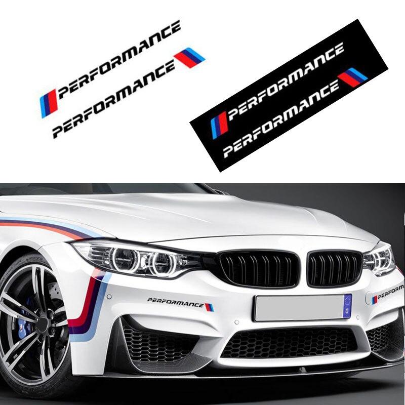 2 PCS Performance Car Badge Decal Car Body Sticker For Bmw M Sticker X1 X3 X4 X5 X6 X7 E46 E90 F20 E60 E39 F10 Car Accessories