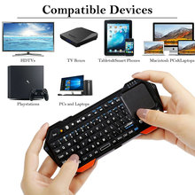 лучшая цена Mini Wireless Bluetooth 3.0 Keyboard With Mouse Touchpad For Windows For Android For IOS Handheld Backlight IS11-BT05