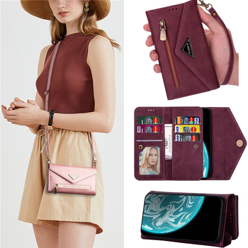 for Samsung J3 J5 J7 A5 2017 Case Fashion Crossbody Lanyard Leather Purse Phone Case J330 J530 J730 A520 Card Stand Wallet Cover
