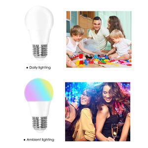 Image 5 - LED RGB لمبة E27 5 واط 10 واط 15 واط RGBW RGBWW الأضواء الملونة ديكور المنزل شريط حفلة عيد الميلاد طاولة ليلية مصباح الأشعة تحت الحمراء عن بعد 220 فولت 240 فولت
