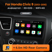 AWESAFE PX9 Car Radio for Honda Civic 9 2013-2016 Multimedia Player 2 Din Android Autoradio