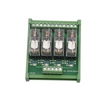 Din Rail Mount Ac/Dc 12/24V Control 4 Spdt 16A Power Relay Module,Omron G2R-1-E.x1(12V) geya ng2r 14 channel relay module din rail mounted 1 spdt replaceable relay board plc omron relay