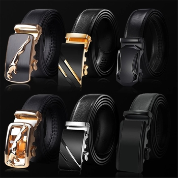 2020 High Quality belt cummerbunds Male Men Belt Automatic Genuine Leather Luxury Black Belt Men's Belts Automatic Buckle