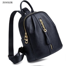 цены 2019 new travel bag ZOOLER brand real leather backpack women genuine leather backpacks fashion luxury backpack bags lady #QL200