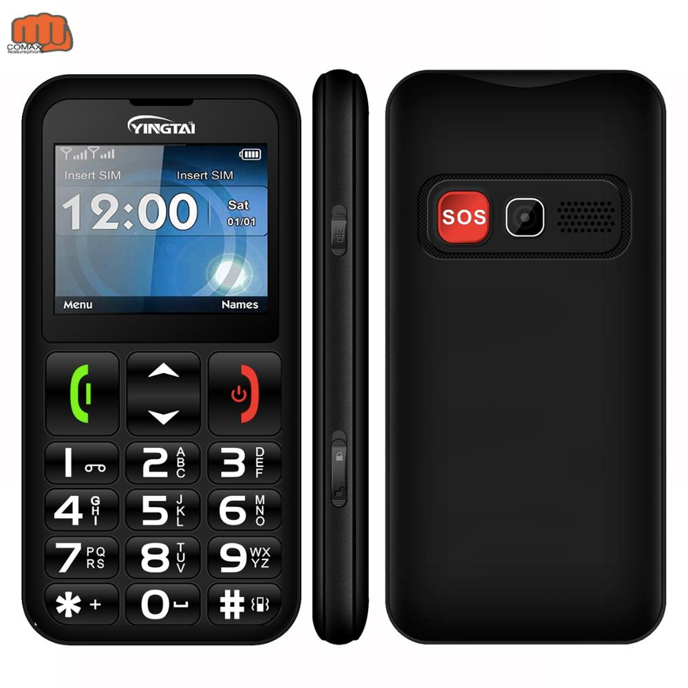 YINGTAI mobile phone Big Keyboard push-button telephone best for Old Man FM Torch T11 Elder celular feature phone image