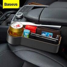 Baseus Auto Sitz Lücke Organizer Leder Auto Sitz Spalt Füllstoff Lagerung Box Für Karte Tasse Auto Zubehör Tasche Halter Veranstalter