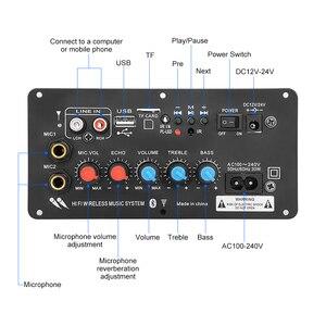 Image 2 - AIYIMA Subwoofer Digital Bluetooth Amplifier Board Dual Microphone Karaoke Amplifier Reverb 12V 24V 220V For 8 12 Inch Speaker