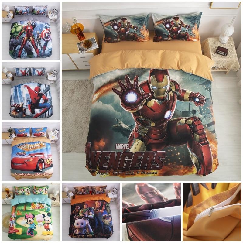 marvel super heroi homem de ferro vingadores spiderman mickey minnie jogo cama capa edredao para criancas