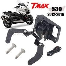 Windscren suporte de montagem smartphone gps suporte para yamaha tmax T-MAX 530 2012-2016 2015 2014 2013