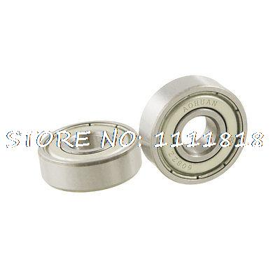 608ZZ Conveying Dual Metal Shields Deep Groove Radia Ball Bearing 8 X 22 X 7mm