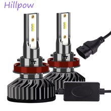 Hillpow Super Brightness H7 LED H4 H1 H3 H13 9005 9006 880 HB3 HB4 H11 LED 12v LED Lights Automotive for Car(China)