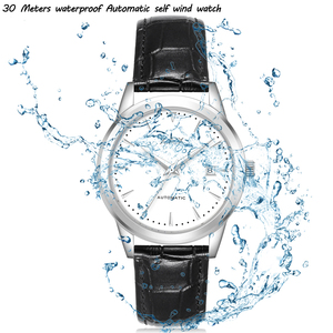 Image 2 - Hommes montres automatique 3 ans de garantie horloges mouvement automatique femmes montre bracelet mécanique