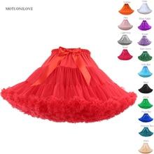 Lolita Petticoat Woman Free Short Halloween Crinoline Mini Ball Gown Underskirt Rockabilly Tulle Stock Tutu Skirt Cosplay Party